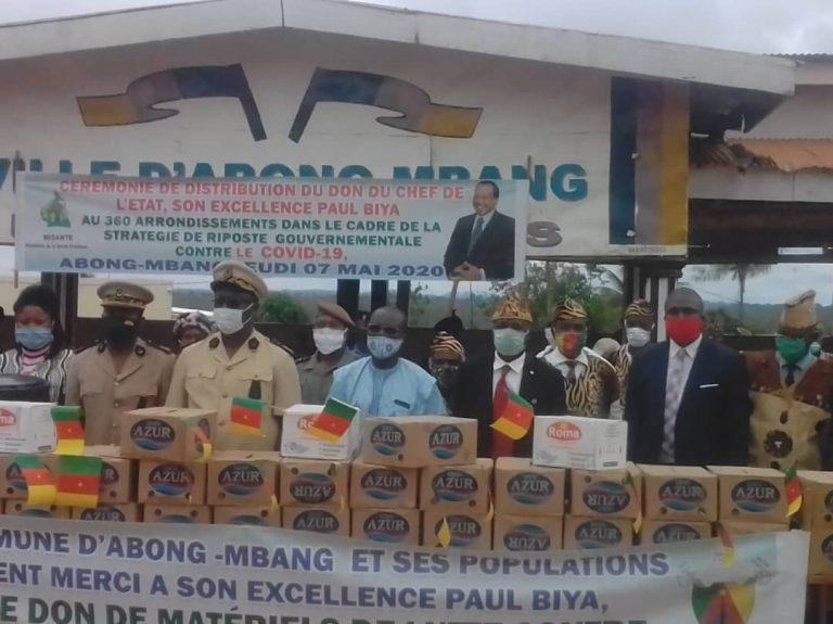 Don spécial du président de la république dans le cadre de la lutte contre le COVID-19: Les populations de l'arrondissement d'Abong-Mbang servies.